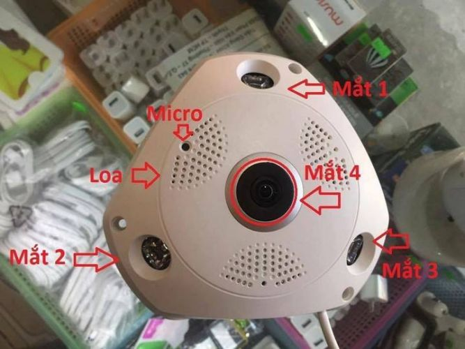 CAMERA ỐP TRẦN, CAMERA IP, QUAY 360 ĐỘ 2.0MP
